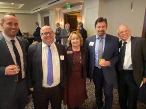 Robbie Jones of Coastal Electric, Chris Caiaccio of Kilpatrick Townsend, Senator Mary Robichaux, Niel Dawson and Tom Lemay of Metropower.